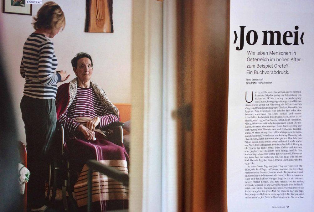 DATUM September 2017 / Porträt Margareta Fornix, 82 / S. 66, 67