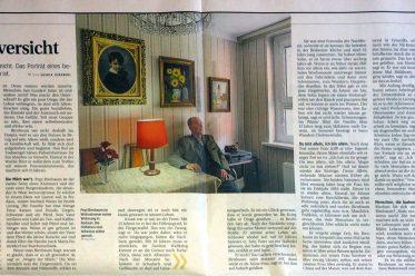 """""""hochbetagt mit Zuversicht"""" aus Die Presse am Sonntag, 17. September 2017, S. 36/37"""