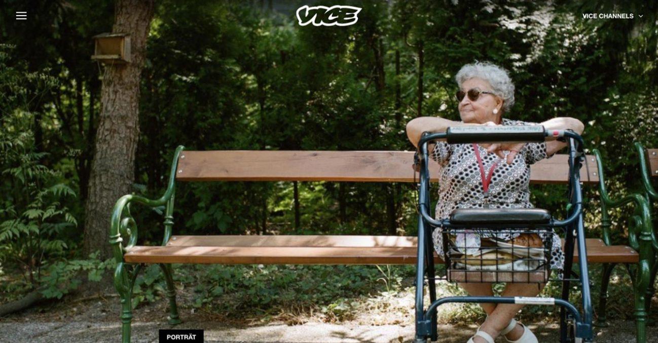 vice.com, 26.10.2017 Porträt der 94-jährigen Karoline Oppolzer von Franziska Tschinderle (Text) und Martin Valentin Fuchs (Fotos)