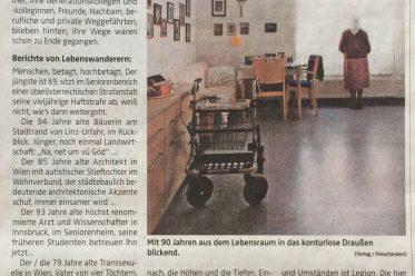"""Bild zur Rezension von """"hochbetagt"""" in den OÖNachrichten vom 11. November 2017"""